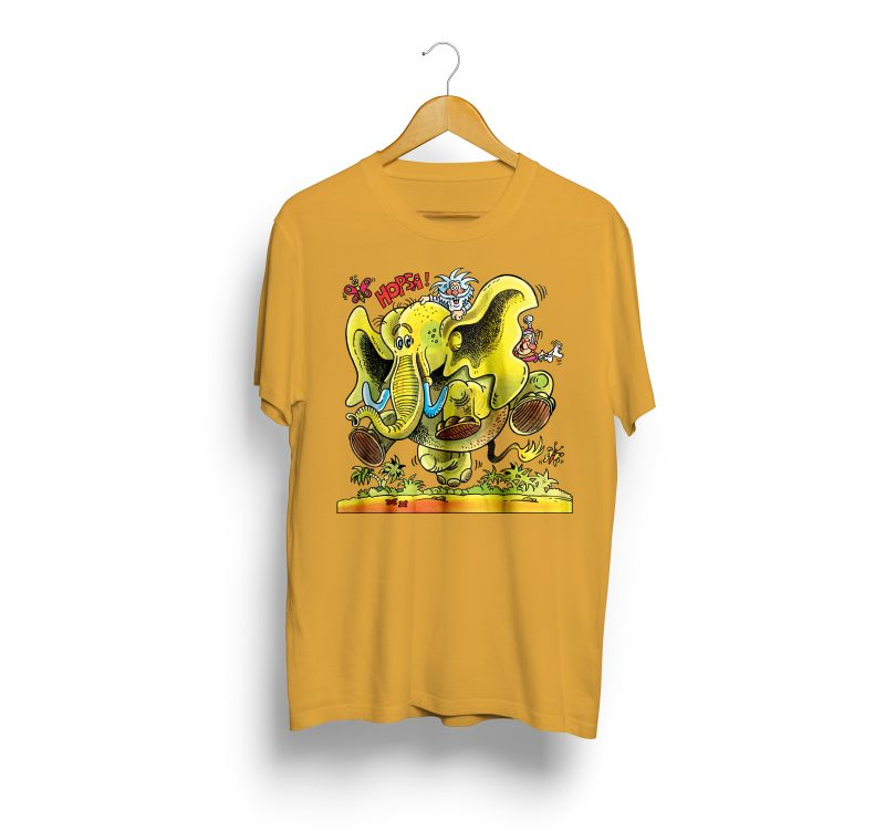 JWP T-Shirt Elefant Yellow