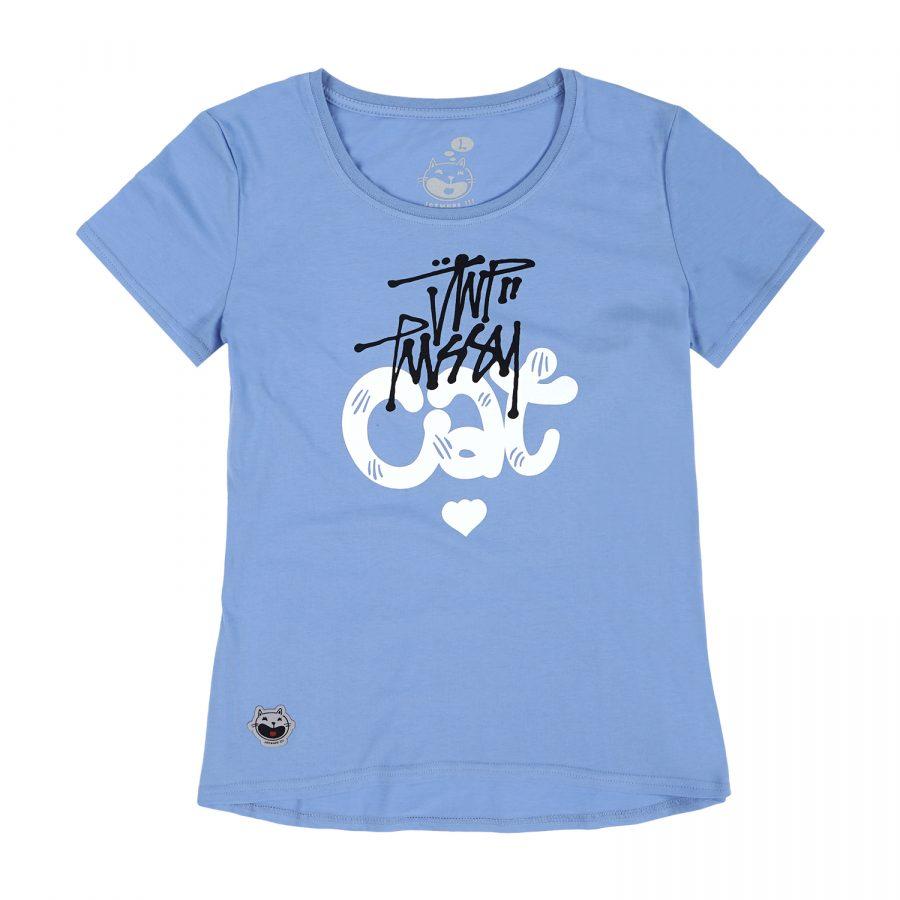 Woman JWP T-Shirt PussyCat Blue