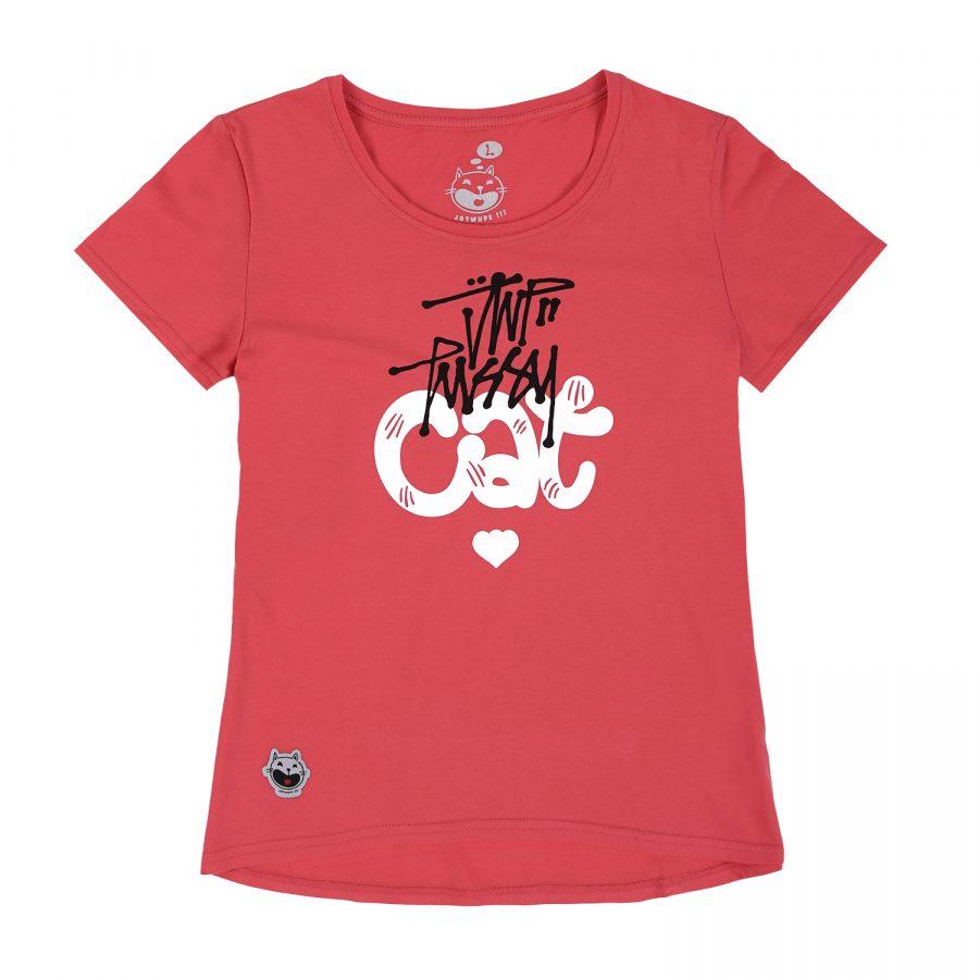 Woman JWP T-Shirt PussyCat Pink